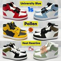 أحذية كرة السلة للرجال Jumpman 1s عالية الساتان ثعبان OG TOKYO ضوء دخان رمادي أسود معدني ذهبي للرجال والنساء أحذية رياضية