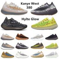Onyx Réfléchissant 380 Kanye West Chaussures De Course Pour Hommes Pepper Lmnte Alien 380s Calcite Hylte Glow Bleu Brouillard D'avoine Hommes Femmes Baskets De Sport yeezy 380