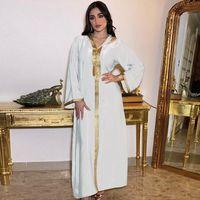 Ethnic Clothing Abaya Dubai Turkey Djellaba Femme Hijab Muslim Long Satin Dress African Arabic Dresses For Women Islam Kaftan Robe Longue Ab