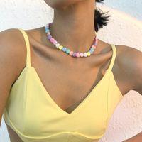 2021 Candy Color Coeur Beads Collier Collier Fashion Tendance Tendance Coréen Style Y2k Parti Body Bijoux