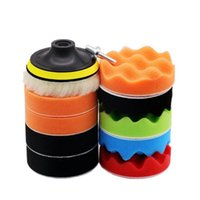 3inch Car Polishing Disc 11Pcs Set Self-Adhesive Buffing Waxing Sponge Wool Wheel Pad For Polisher Drill Adapter Care Products