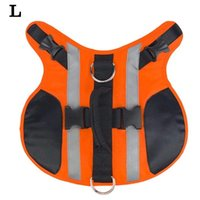 Dog Apparel Portable Summer Adjustable With Handle Reflective Vest Accessories Pet Supplies Life Jacket Flotation Outdoor Oxford Cloth