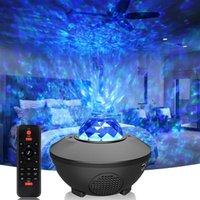 Night Lights Star Moon Galaxy Projector Light Sky Laser Colorful LED Ocean Wave Music Rhythm Control