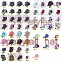 Kravat boya at kuyruğu şapkaları 55 renkler kadın işlemeli yıkanmış örgü beyzbol kapaklar ayçiçeği buffalo leopar dağınık topuz kamyon şoförü şapka cyz3186