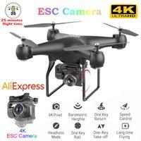 RC WiFi Câmera Drone 4K Grande Angular Fotografia Aérea Aerial Super Longo Endurance Quatro Eixo Dron Remoto Controle Remoto Helicopter Toy 210325