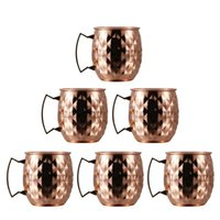 Moscow Mule Copper Mugs, Set Of 6 Handcrafted Mugs For Cocktail, Safe Beer Coffee Cup