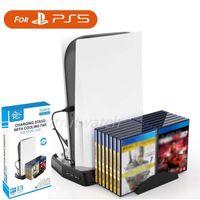 PS5 향수 핸들 용 듀얼 컨트롤러 스테이션 PlayStation 5 CD 브래킷 MQ20 충전기