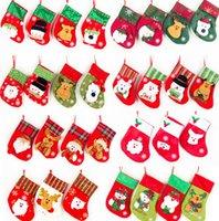 Christmas Stockings Gift Christmas Stocking Sock Santa Claus Xmas Tree Hanging Decor Christmas Stockings Candy Gift Bag