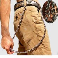 79cm Skull Biker Jean Wallet Chains Silver Ghost Rock Punk Hip-pop Metal Keychain Key Pant Chain Fashion Men Jewelry