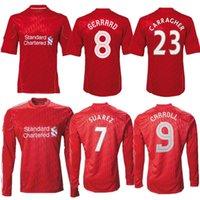 2010 2011 2011 Gerrard Suarez Carroll Retro Soccer Jersey 10 11 12 Bellamy Carragher Kuyt стерлингов Henderson Vintage Classic футбол