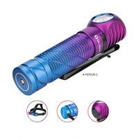 Perun 2 lila Gradient 2500 lumen ultrakompakte kühl weiß wiederaufladbare LED, multifunktionales rechtwinkliges MCC-wiederaufladbarer Scheinwerfer