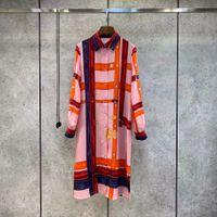Robe de la piste de Milan 2021 Summer Imprimer Robe de concepteur pour femme marquée de style Même style avec 0319-11