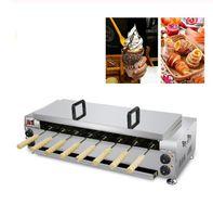 Elektrikli Dondurma Koni Makinesi Macar Baca Kek Yapma Makinesi Kurtos Kalacs Pişirme Makinesi