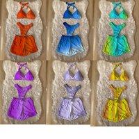 Women Swimwear 3 Piece set Push Up Thong Summer Gradiend Color Bathing Suit S-2XL Biquini Micro Clothes Sexy Bikinis Clothing 4940