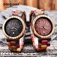 Relógios de pulso Erkek Saatler Dodo Dodo Veado De Madeira Para Homens Calendário Semanal Luminoso Homens de Quartz Relógio de Pulso Relogio Masculino Drop C16