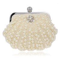 새로운 패션 쉘 디자인 여성 가방 페르시 손수 만든 다이아몬드 찬 어깨 메신저 크리스탈 결혼식 저녁 가방