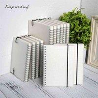 A5 A6 Livro Espiral Notebook Bobina de Livro para-Do Fored Dot Blank Rede Empresa Diário Diário SketchBook para material escolar Artigos de papelaria 210611