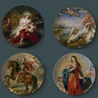 Peter Paul Rubens Painting Plaques décoratives Céramique Home Cuisine Artistique Hôtel Salon Salon Religion Plaques de peinture à l'huile