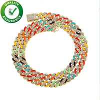 Iced Out Cuban Link Chains Luxury Designer Jewelry Women Mens Necklace Diamond Tennis Bracelet Hip Hop Gold Silver Necklaces Statement Accessories 8mm Width