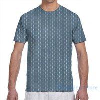 T-shirt da uomo Piuttosto tessile Stampa in Blu e Gold Men T-Shirt Donne Tutte le donne Girl T Shirt T-Top Top Tees Manica corta T-shirt