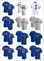 """Özel Jersey Erkek Kadın Gençlik New York """"Mets"""" 23 David Peterson 11 Kevin Pillar 2 Dominic Smith 62 Drew Smith Beyzbol Formaları"""