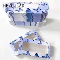 Wholesale 50 100box Holographic Butterfly False Eyelash Packaging Box Mink Fake Lash Soft Case Carton Custom Logo Rectangle Box1