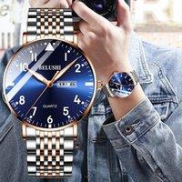Saatı Belushi Moda Erkek Saatler Üst Su Geçirmez Kuvars İzle Erkekler Rahat Paslanmaz Çelik İş Tarihi Bilek