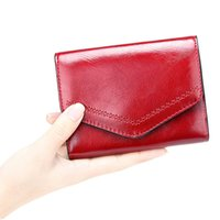 محفظة المرأة براءات الاختراع السيدات قصيرة عملة محفظة المرأة مخلب أكياس المال عالية السعة حاملي بطاقات الائتمان الإناث # 15