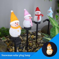 Solar Snowman Light Outdoor Waterproof Control Automatic On Off Energy-Saving Christmas Led Garden Lamp Lawn Lamps