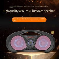 Portable Speakers Wireless Music Sound Bluetooth-compatible Speaker Support U Disk TF Card Outdoor Dance Promotion High Volume Handheld Subw