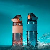 Bouteille d'eau de sport Tritan + PP Capacité de grande capacité 750 ml de bouteilles de camping anti-chute portables pour femmes enceintes et enfants Sea Way OWA4409