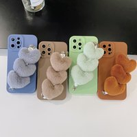 Plush love chain phone cases for iphone13 pro max 12 11 X XR XS 7 8 plus SE case cover