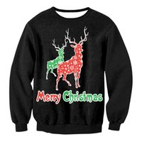 3D Christmas Man women Ugly Christmas Sweater Couple Watching clothing Unisex Lovers for Men female black sweater Autumn LZ2105