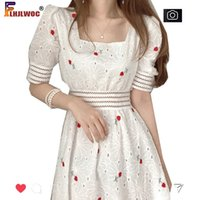 Oco para fora branco vestido de festa de laço mulheres projeto floral bordado data elegante chique flhjlwoc vestidos
