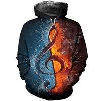 جميع ملاحظات الموسيقى 3D مطبوعة الأزياء سستة عارضة قميص الشارع الهيب هوب هوديي الرجال هوديس بلوزات