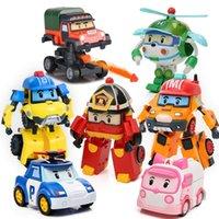 6шт / набор Robocar Poli Корея игрушки трансформация робот Poli amber Roy автомобиль модель аниме действия фигурку кукла игрушки для детей подарок