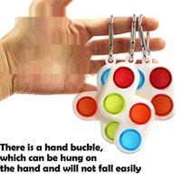 테트리스 장난감 키 체인 Fidget 푸시 버블 보드 게임 감각 간단한 퍼즐 장난감 자폐증 불안 스트레스 reliever H317JXF