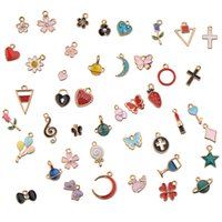ename charms make jewelry mix suspension diy crafts earring hairpins accessories bracelets epoxy planet gold plated metal various woman man jewellery 150 pcs