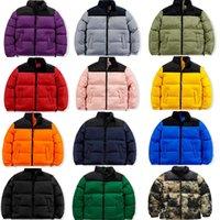 Moda para hombre Stylist Abrigo de la letra de la impresión Parka Chaqueta de invierno Hombres Mujeres Puleather Abrigo hacia abajo Jackets Tamaño S-4XL JK005