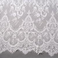 Ruban 3m de long ventes de cils de cils de chantilly dentelle de mariage traditionnel tissu de mariage blanc ivoire tissu tissu bricolage artisanat