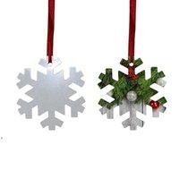 Sublimation Blank Christmas Ornament Double-Sided Xmas Tree Pendant Multi Shape Aluminum Plate Metal Hanging Tag Holidays LLF10820