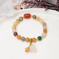 Brincos de desenhador anéis de noivado, pulseiras e colares de ouro são favoritos femininos charme pulseiras pulpados cabaça chinesa estilo olivina simples jóia simples jóia