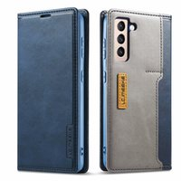 Leather Wallet Case for Samsung S21 Plus Note 20 Ultra S20 FE S10 A72 A52 Folio Flip Magnetic Cover Soft TPU Back Shell