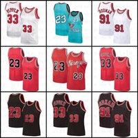 "NCAA Norte Tar Heels MJ 23 Michael Jersey Dennis 91 Rodman Scottie 33 Pippen Stripes Chicago ""Retro Bulls"" Hombre Baloncesto Jersey XX4"