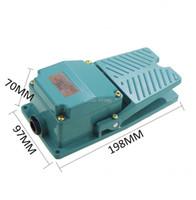 Control de hogar inteligente TFS-402 Pedo momentáneo verde Interruptor de pie AC 250V 15A 1NO 1NC con glándula de cable