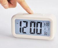 테이블 시계 스마트 센서 나이트 라이트 온도 온도계와 디지털 알람 시계 조용함 침묵의 데스크 침대 옆 여는 멍청이 일어나는 snooze t2i51742