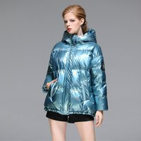 Down Jacket 2021 Winter Fashion Korean Version Bright Face Loose Thickened 90 White Duck Women's Short Coat