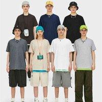 Инфляция Летние сплошные мужчины повседневная футболка с коротким рукавом хлопчатобумажный хип-хоп стритюва футболки унисекс обычный хип-хоп мужские футболки 035S16 210324