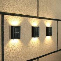 2/4/8/10 PCs LED Wandleuchte im freien wasserdichte Korrosionsschutz moderner nordischer Stil Veranda-Garten-Innenhöfe Solardekor-Lampe