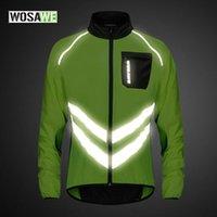 Cycling Jackets WOSAWE Reflective Windproof Men's Jacket Breathable Mtb Road Mountain Bike Vest Sleeveless Safety Sports Windbreaker